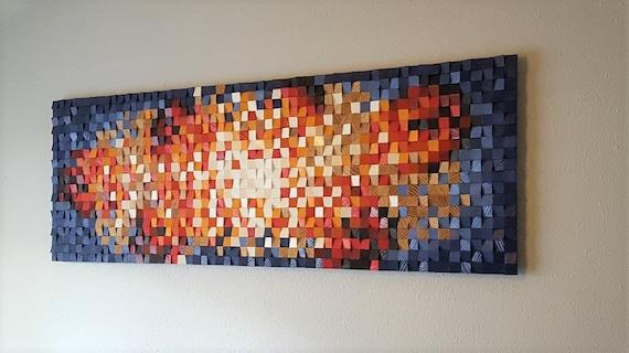 Wood wall art wood wall decor wood wall panel art wood wall   Etsy