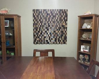 Wood wall art, wood wall decor, wood wall sculpture, wood wall art large, wood wall panel art, wood wall hanging, SHIPPING Included!