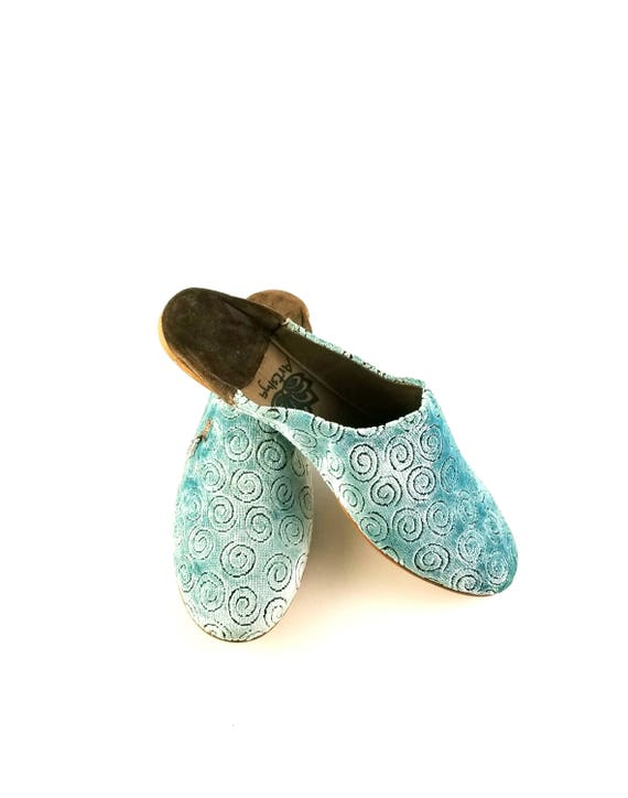 Moroccan Shoes Hamsa Velvet custom made Moroccan Babouche FREE Shipping in the United States.MOTHERS GIFT
