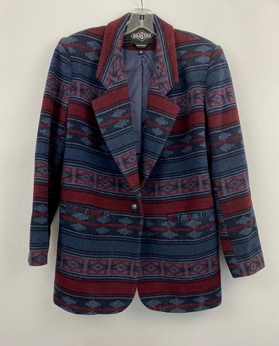 90's Oversized Southwestern Navajo Blanket Blazer - image 5