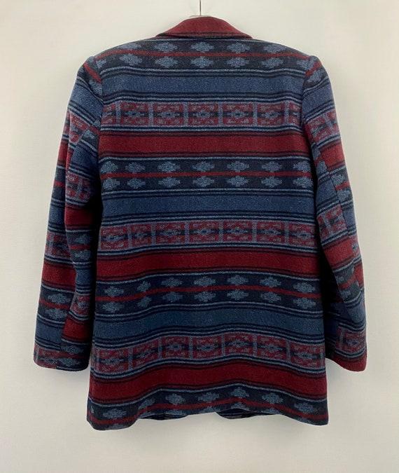 90's Oversized Southwestern Navajo Blanket Blazer - image 7