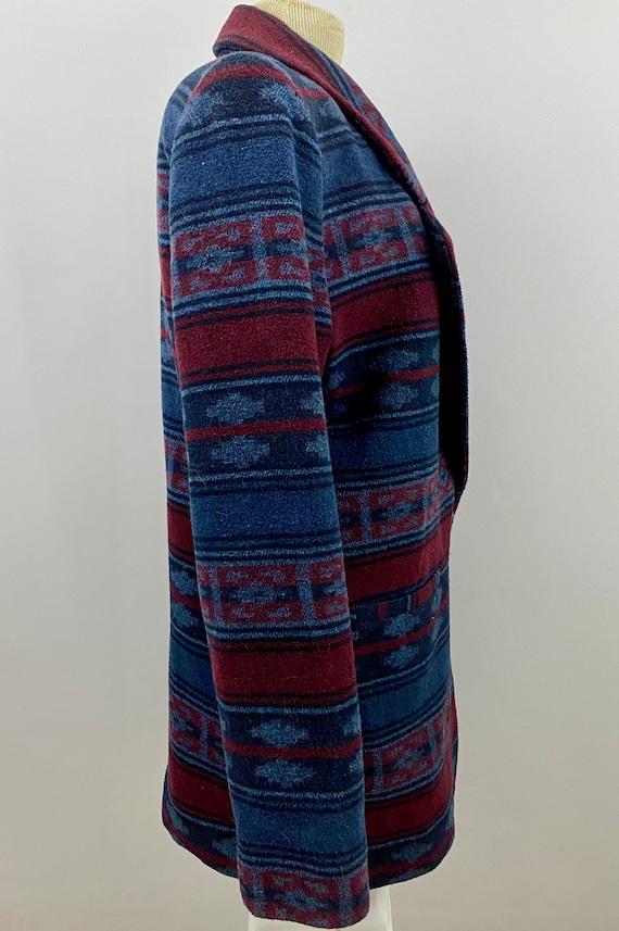 90's Oversized Southwestern Navajo Blanket Blazer - image 3