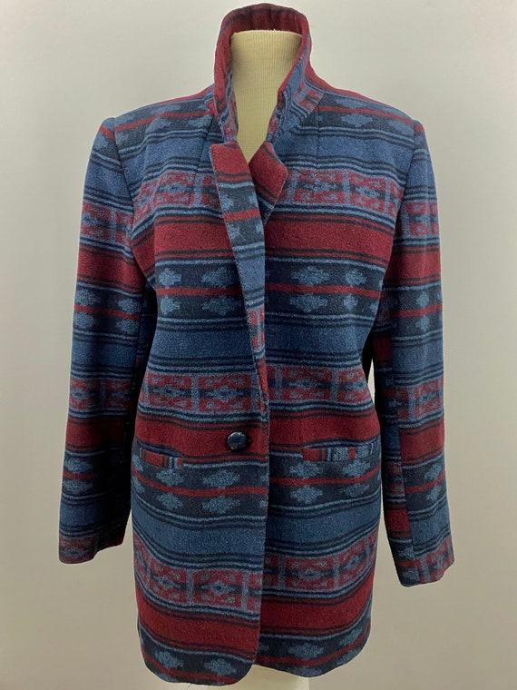 90's Oversized Southwestern Navajo Blanket Blazer - image 4