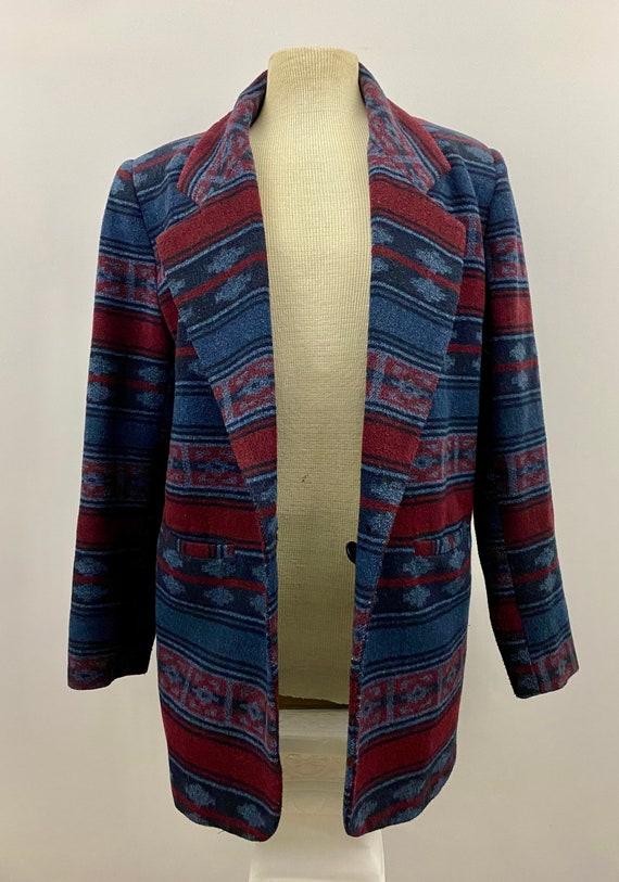90's Oversized Southwestern Navajo Blanket Blazer - image 6