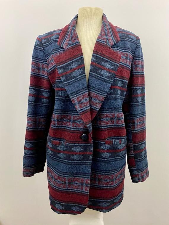 90's Oversized Southwestern Navajo Blanket Blazer - image 1