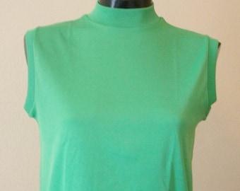Vintage Kelly Green Sleeveless Top