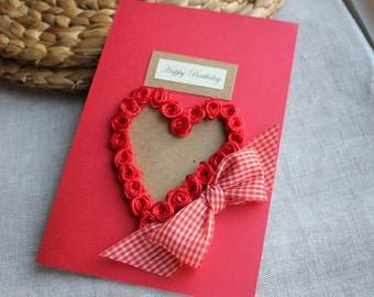 I Love You Birthday Card Romantic Birthday Card Husband Etsy
