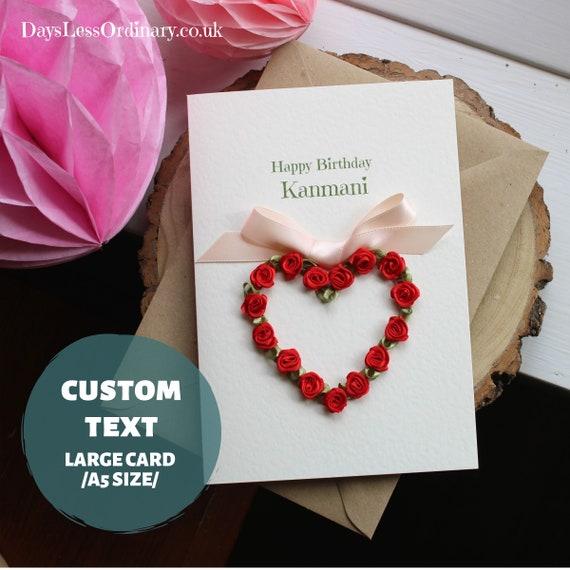 Fabulous Birthday Card Girlfriend Personalised Card Love Of My Life Etsy Personalised Birthday Cards Paralily Jamesorg