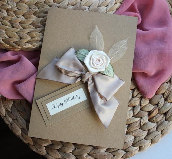 Personalised Handmade Birthday Card Mum Girlfriend Wife Sister