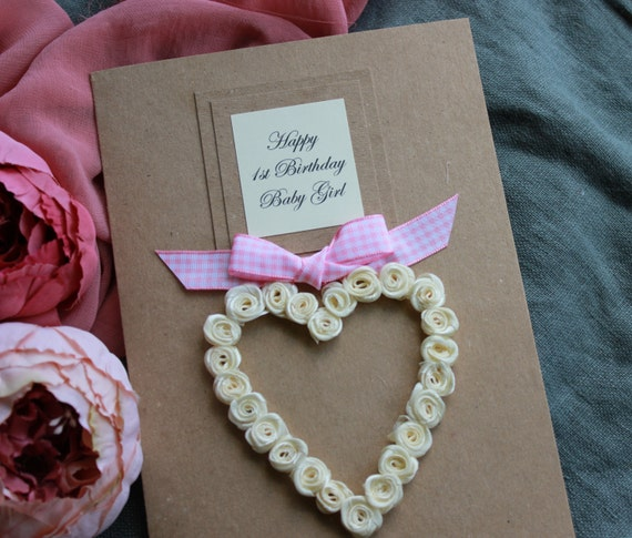 1st Birthday Card For Daughter Granddaughter Son Or Etsy