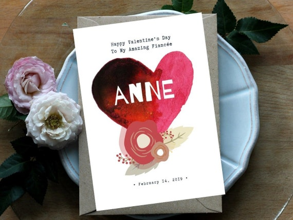 For My Future Wife Personalised Valentines Day Card Etsy