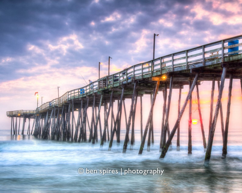 Sunrise Under The Avalon Pier - Outer Banks Photography - Photographic Print