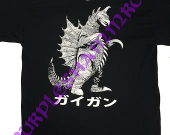 GIGAN short sleeve SHIRT tshirt Godzilla Ghidorah Gyaos Rodan Ultraman Guiron Gamera Shogun Warriors Raiden Mazinga Biollante Baltan Kaiju