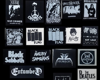 Punk metal crust doom black death grind grindcore heavy gore horror cult cartoon novelty patches sew-on DIY PS01