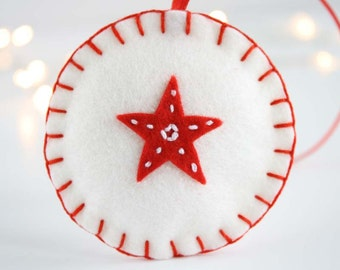 Pure wool felt star decoration