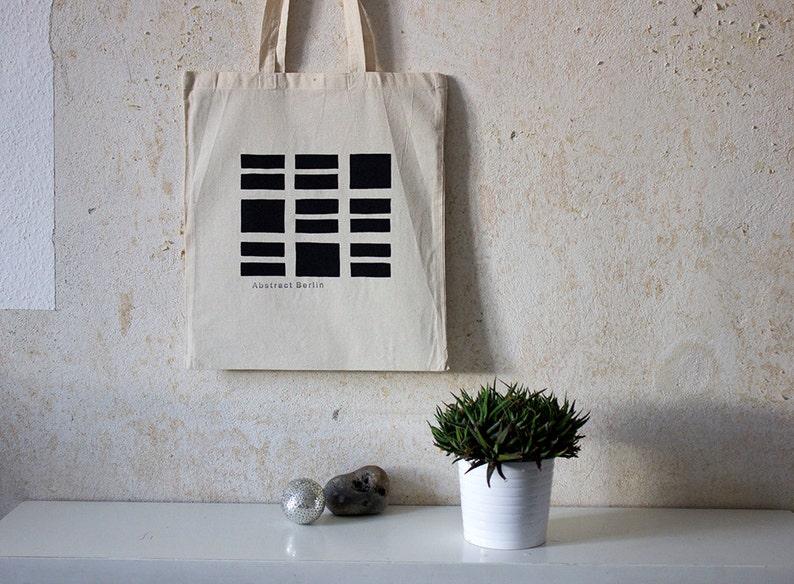 Geometric Tote Bag  Haus der Kulturen der Welt   100% Cotton image 0