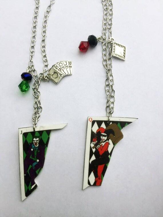 nuovo prodotto 8a347 f26eb Collana ispirata BFF Harley e Joker