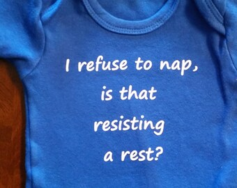 Resisting A Rest onsie **as is** ready to ship***