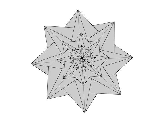 Origami Diagram for Star Mathilda on