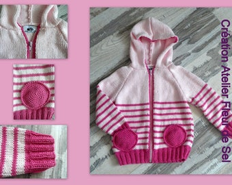 hooded jacket pink 4t