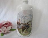 Vintage Stoneware Bottle With Artwork By JC Van Hunnick