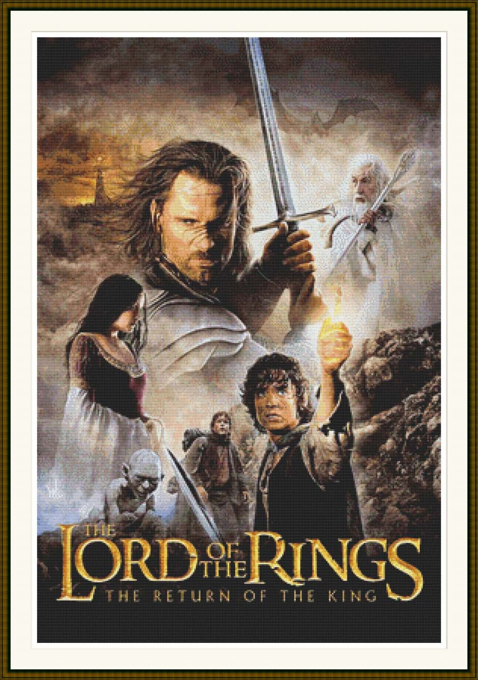 The Lord Of The Rings The Return Of The King Counted Cross Etsy
