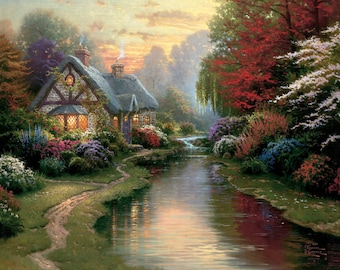 A Quiet Evening - Counted cross stitch pattern in PDF format