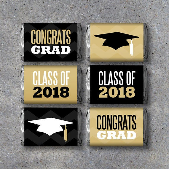 Graduation Mini Candy Bar Wrappers Instant Printable Files Party