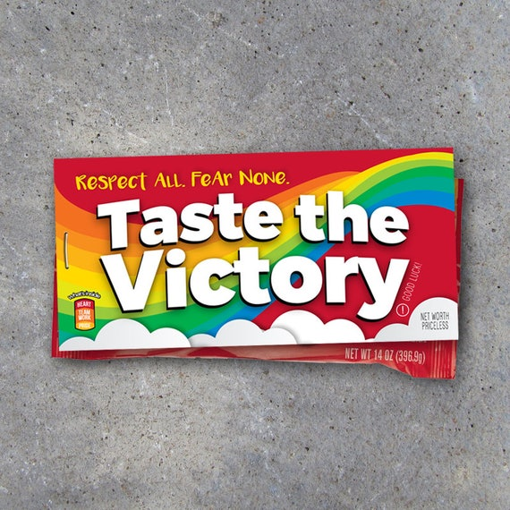 4fc4ec53b4b2b Skittles Taste The Victory Sports Tags – Printable DIY Good Luck Locker  Treats for Basketball, Volleyball, Football, Baseball, Soccer & Golf