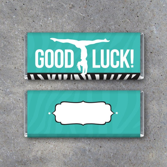 Gymnastics GOOD LUCK Candy Bar Wrapper Printable Instant | Etsy