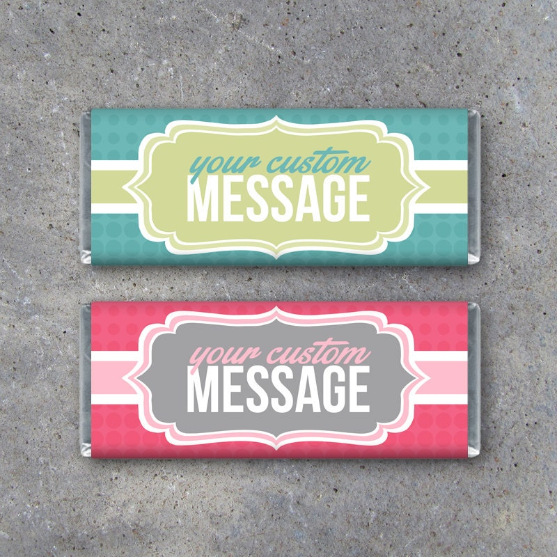 personalized candy bar wrappers printable wrappers featuring etsy