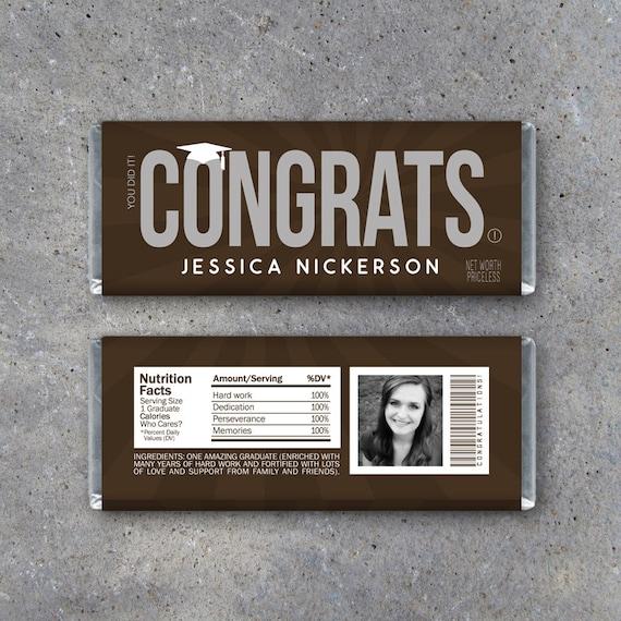 graduation congrats candy bar wrappers printable graduation hershey