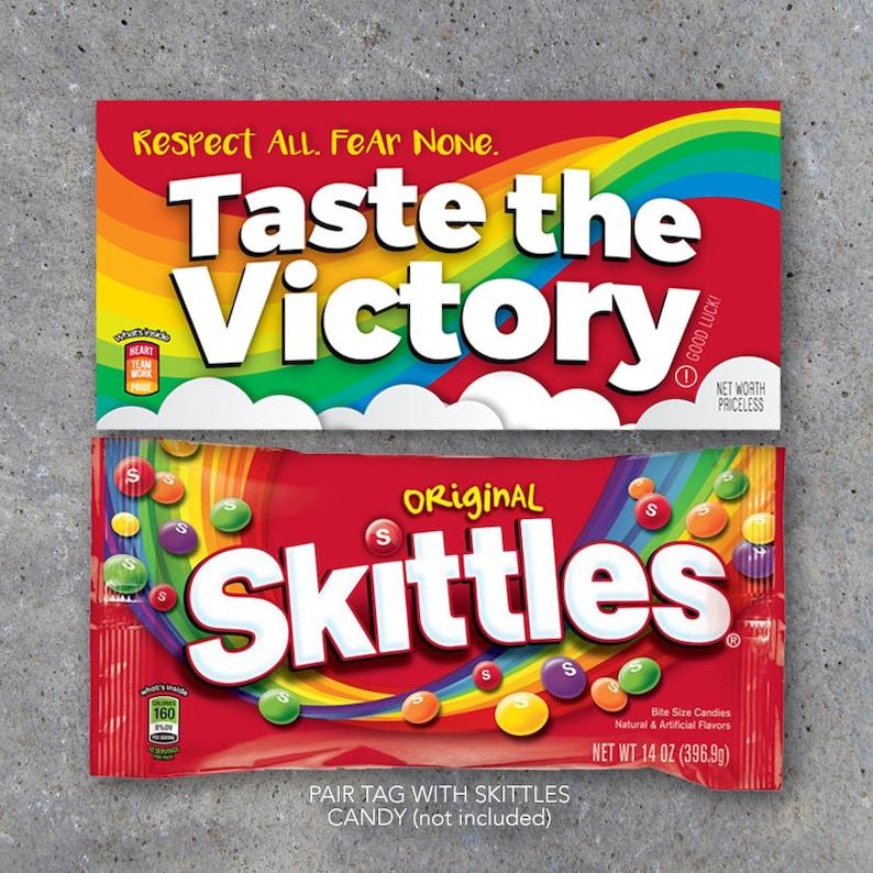 Skittles Taste The Victory Sports Tags – Printable DIY Good Luck Locker  Treats for Basketball, Volleyball, Football, Baseball, Soccer & Golf