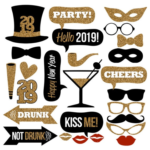 2019 New Years Photo Booth Props
