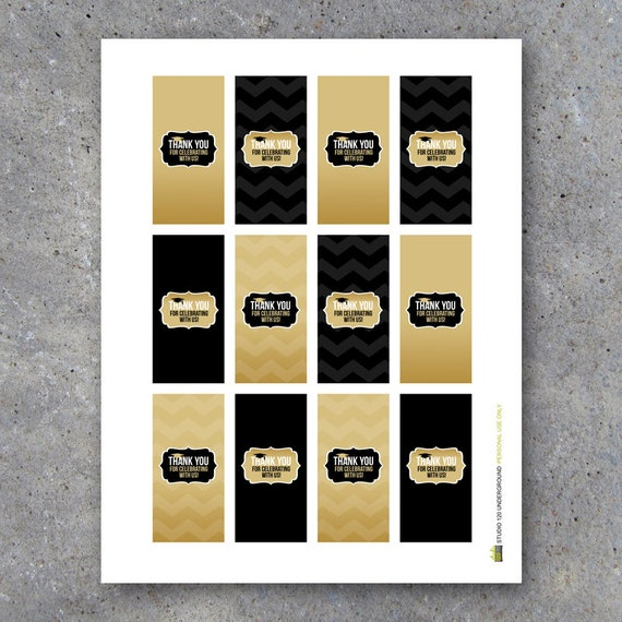Graduation Thank You Mini Candy Bar Wrappers Instant Etsy
