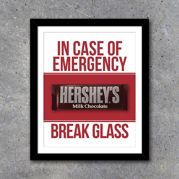 photo relating to In Case of Emergency Break Glass Printable known as Inside Situation of Crisis Crack Gl Printable Artwork Funny household decor  Xmas Reward - Commencement Reward - Fathers Working day Present-Youngster Shower Reward
