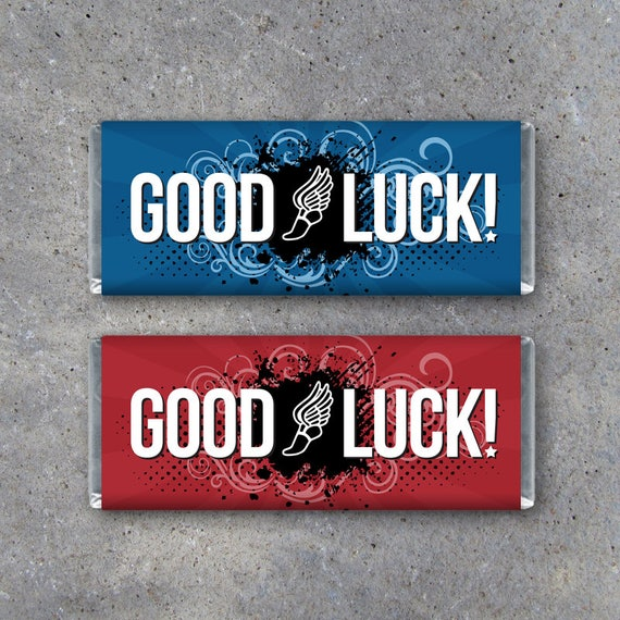 track cross country good luck candy bar wrapper diy etsy