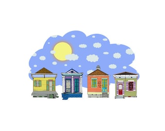 Nola Houses during the Daytime Limited Number Print (7)