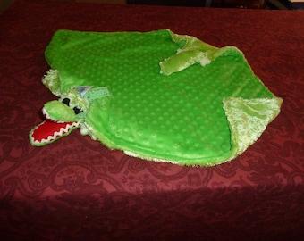 Alligator Baby Woobie Security Blanket