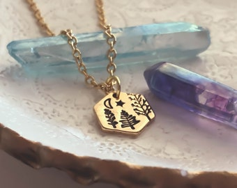 Tree Necklace, Dainty Jewelry, Gifts For Her, Forest Necklace, Minimalist Jewelry, Simple Necklace, Tree Jewelry, Pine Tree, Evergreen