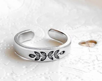 Rings For Women, Boho Ring, Floral Adjustable Rings, Christmas Gifts For Her, Hypoallergenic Jewelry, Stacking Rings, Stocking Stuffers