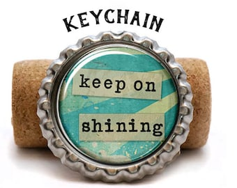 Keep On Shining Keychain, Bible Study Gift Ideas, Study Group Presents, Catholic Confirmation, Baptism, First Communion, Gift For Teacher