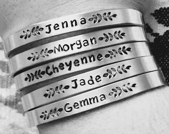 Personalized Bracelet, Christmas Gifts Under 10, Xmas Presents, Gift For Her, Cuff Bracelet, Bridesmaid Gift, Birthday Gift, Custom Name