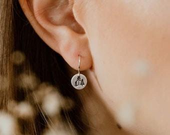 Tree Earrings, Earrings for Women, Outdoorsy Christmas Gifts, Tarnish Free Jewelry, Woodland Forest, Evergreen, Pine Tree, Dainty Earrings