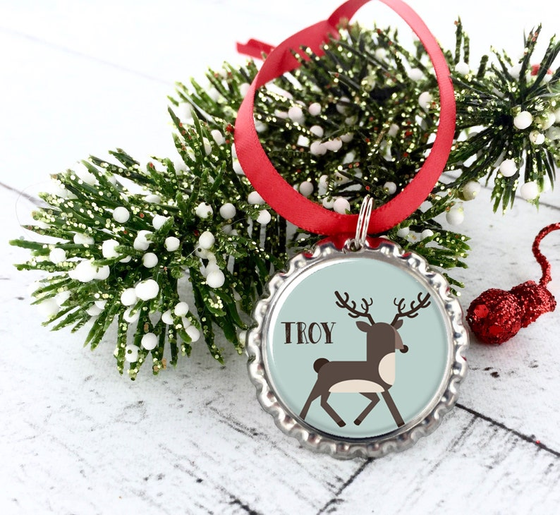 Personalized Name Ornaments Reindeer Christmas Ornaments Bulk Holiday Gifts Gifts For Office Staff Coworker Presents