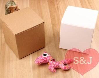 10x BROWN 10x10x10cm DIY Kraft cardboard PaperBoxes
