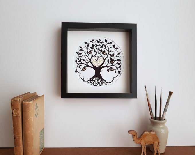 NEW DESIGN: Personalised Arabic Family Tree of Life Print - Choose your wording and colours