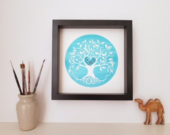 NEW DESIGN: Personalised Islamic Couple's Tree of Life Print - Arabic & English - Choose your wording and colours