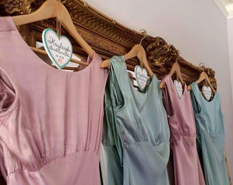 Personalised Wedding Dress and Bridesmaid Dress Hangers - choose your colours, flowers and wording.