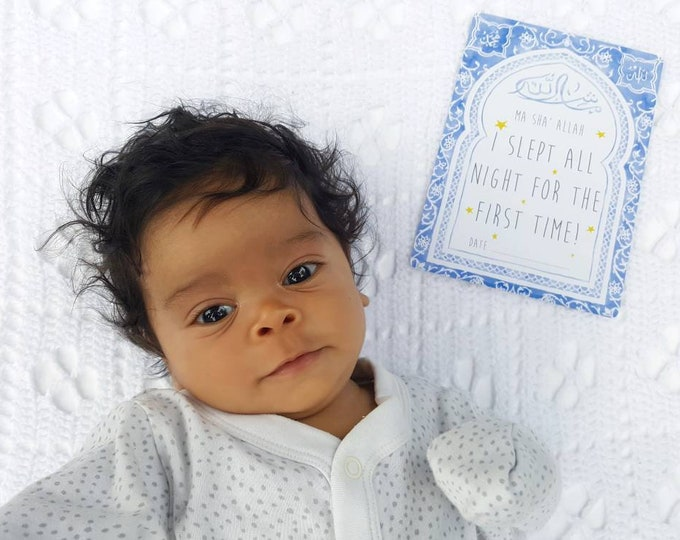 Muslim Baby Milestone Cards - for Boys